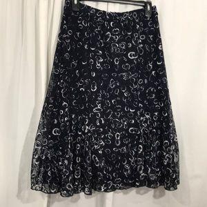 EUC Small Christopher & Banks Lace Skirt